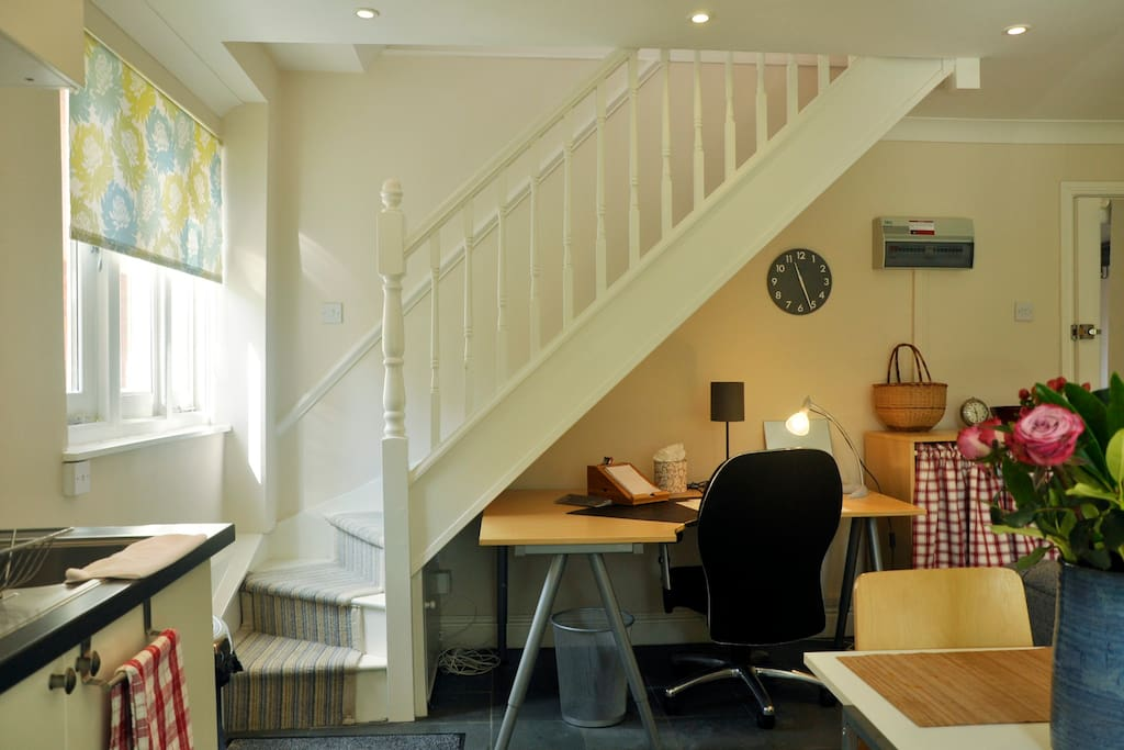 Mini office space and staircase