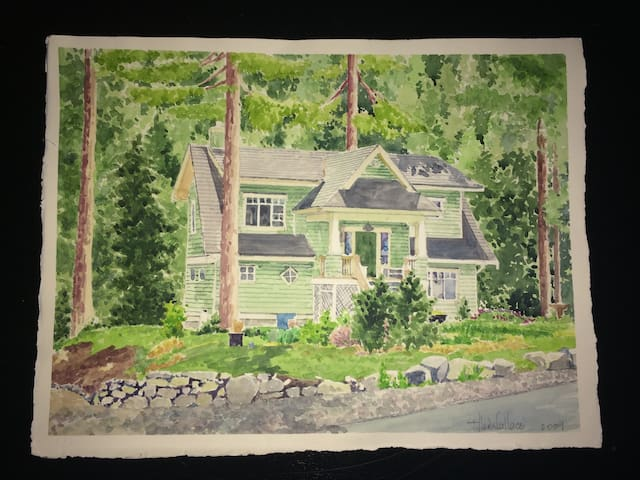 A Beautiful Craftsman View Home on Two Acres. - Bowen Island - Huis