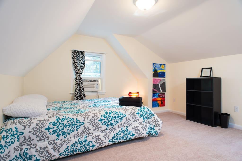 This bedding/decorations are newly updated, calming colors
