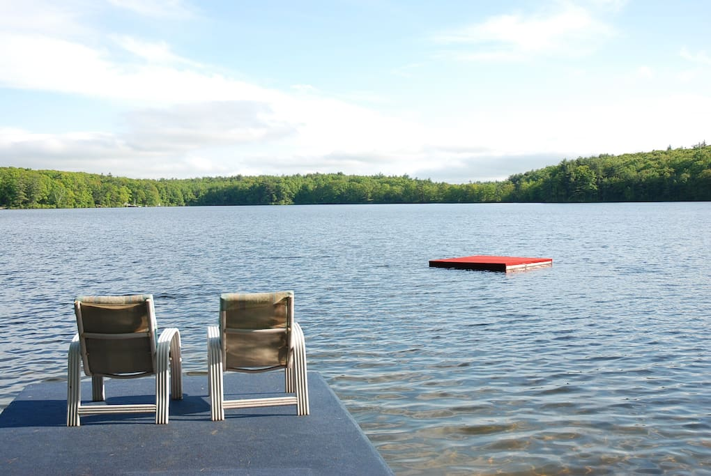 View of Rockwood Pond from our dock