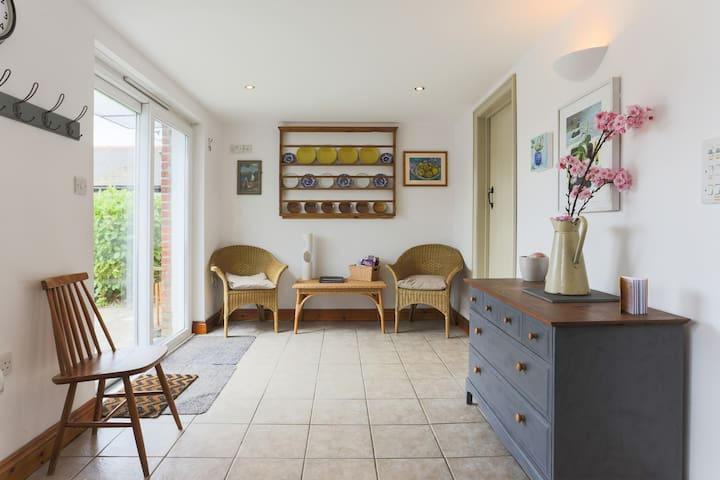 Kitchen opens on to south-facing terrace