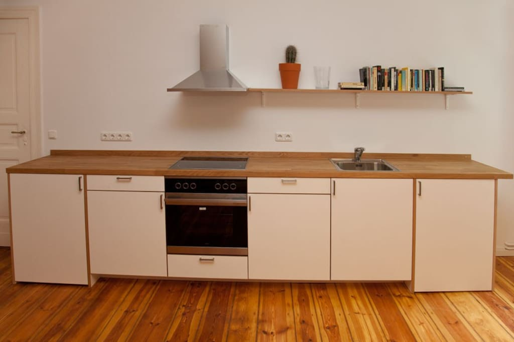 Kitchen with everything basic you need for cooking