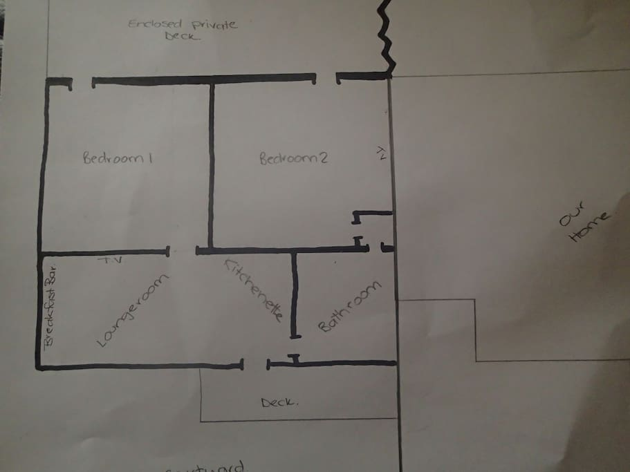 Floor plan and shows joining of our residence.