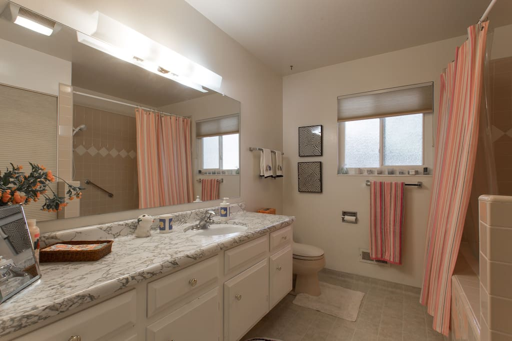 Bathroom.  For your sole use except for occasional use by daytime visitors.   Includes shared laundry facilities.