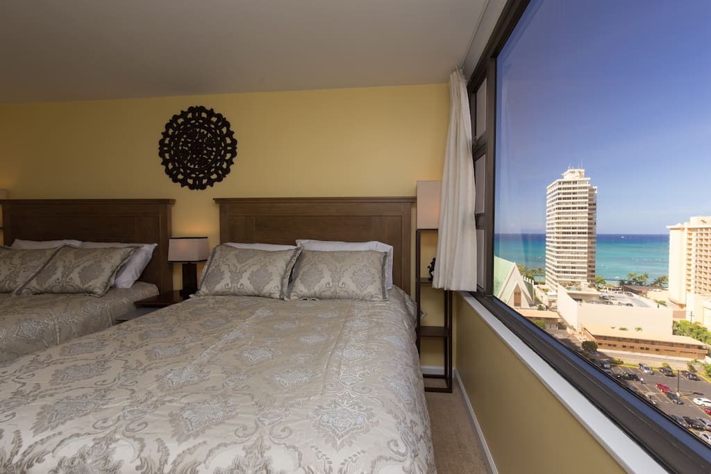Roll over and enjoy ocean or mountain views from your bed!
