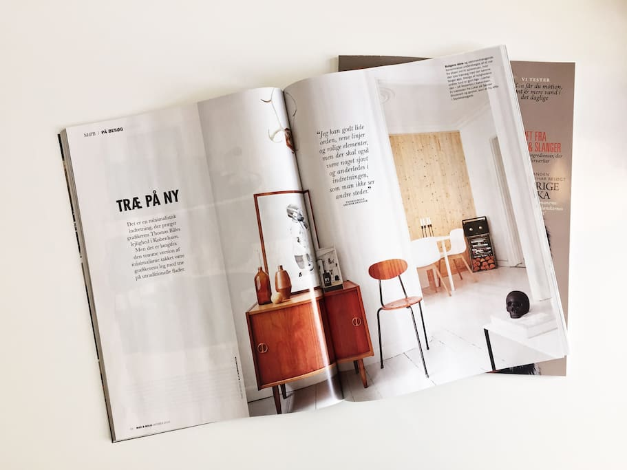 My apartment displayed in the Danish magazine 'Mad & Bolig'
