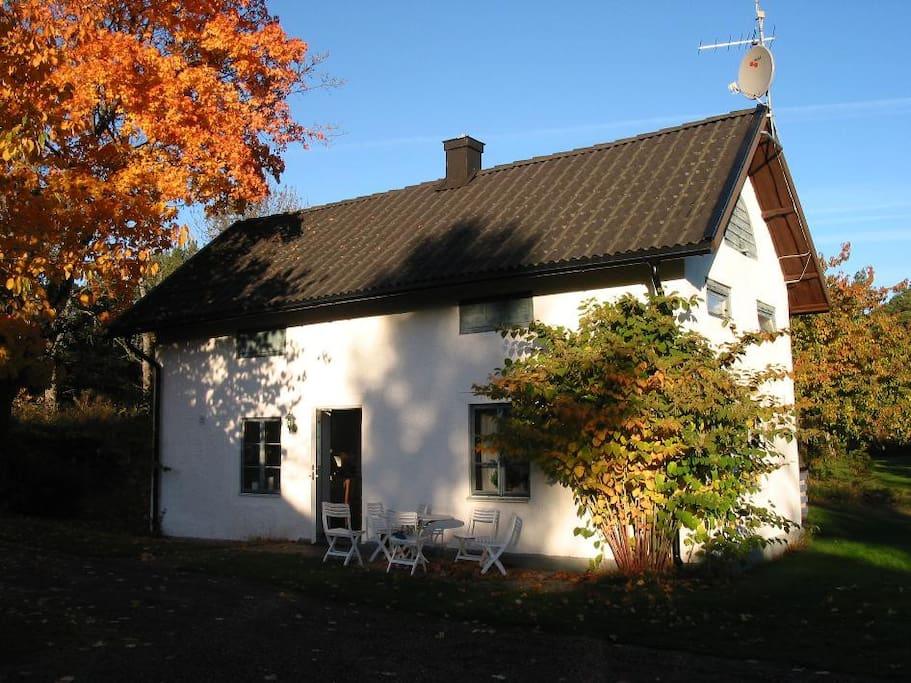 genomträngande vit små nära Stockholm