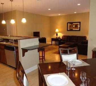 This cool, clean and comfortable apartment can be yours for the night, or two. Email me if you have any questions before booking.  Complex has a gym and pool free to use during your stay.