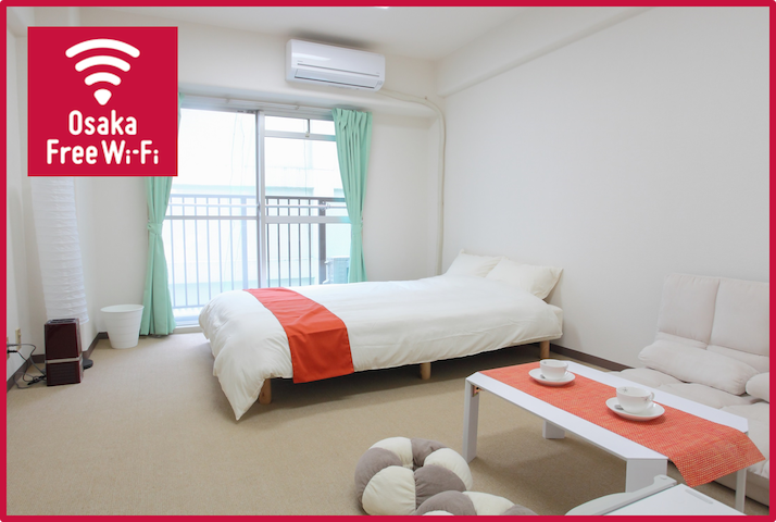 Sweet & Cozy flat / Shinsaibashi station 5 mins