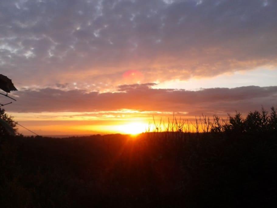vista tramonto dal mio giardino