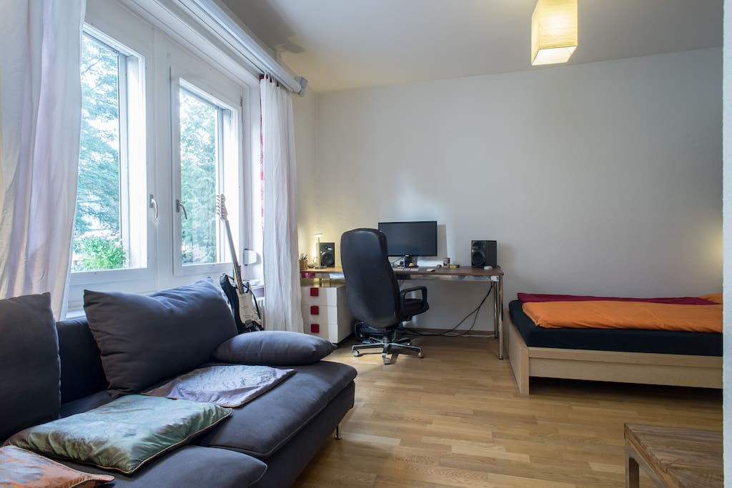 Our centrally located apartment in the heart of Wipkingen Zurich.
