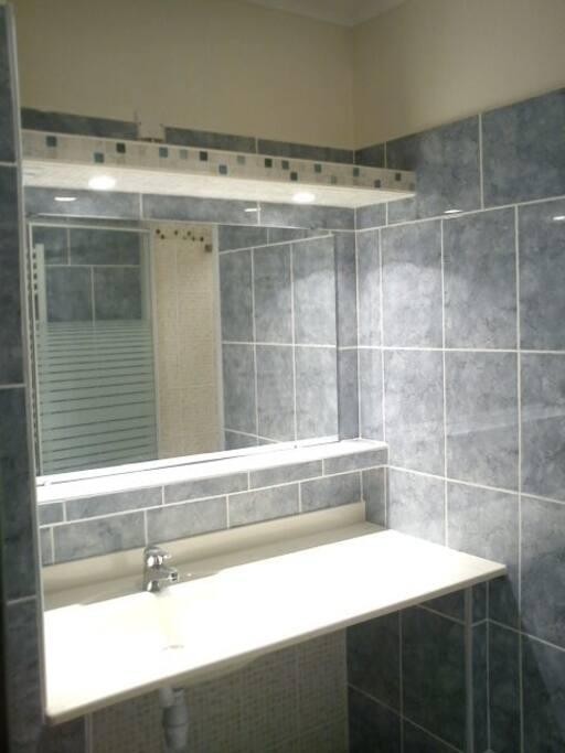 salle de bain entierement faiencée
