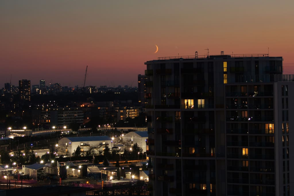 View from the flat at night