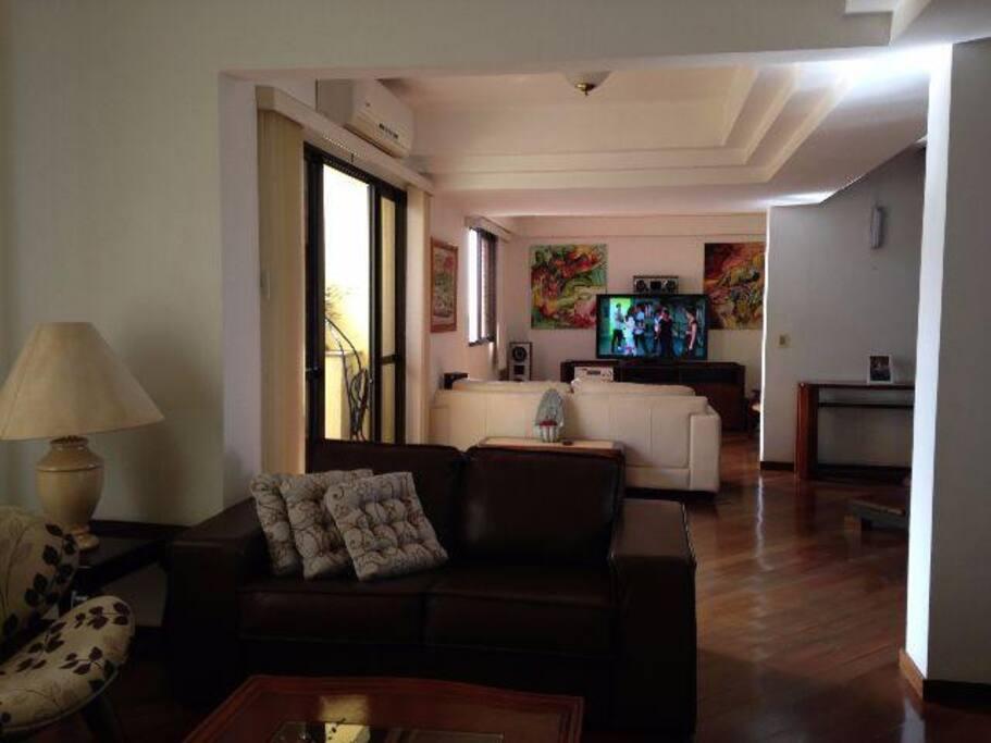 sala de estar e de TV