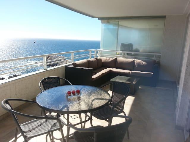 Departamento vista y bajada al mar - Renaca - Apartment