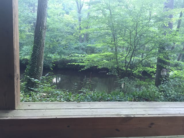 Swim, fish or kayak from the dock- cozy fireplace! - Southampton Township - Huis