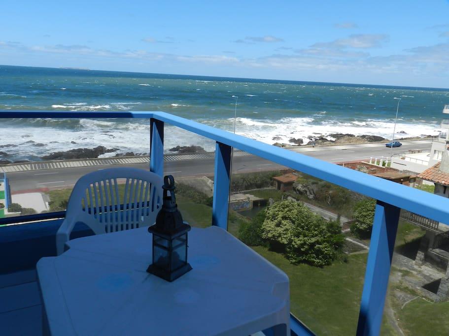 Vista desde el balcón de planta inferior