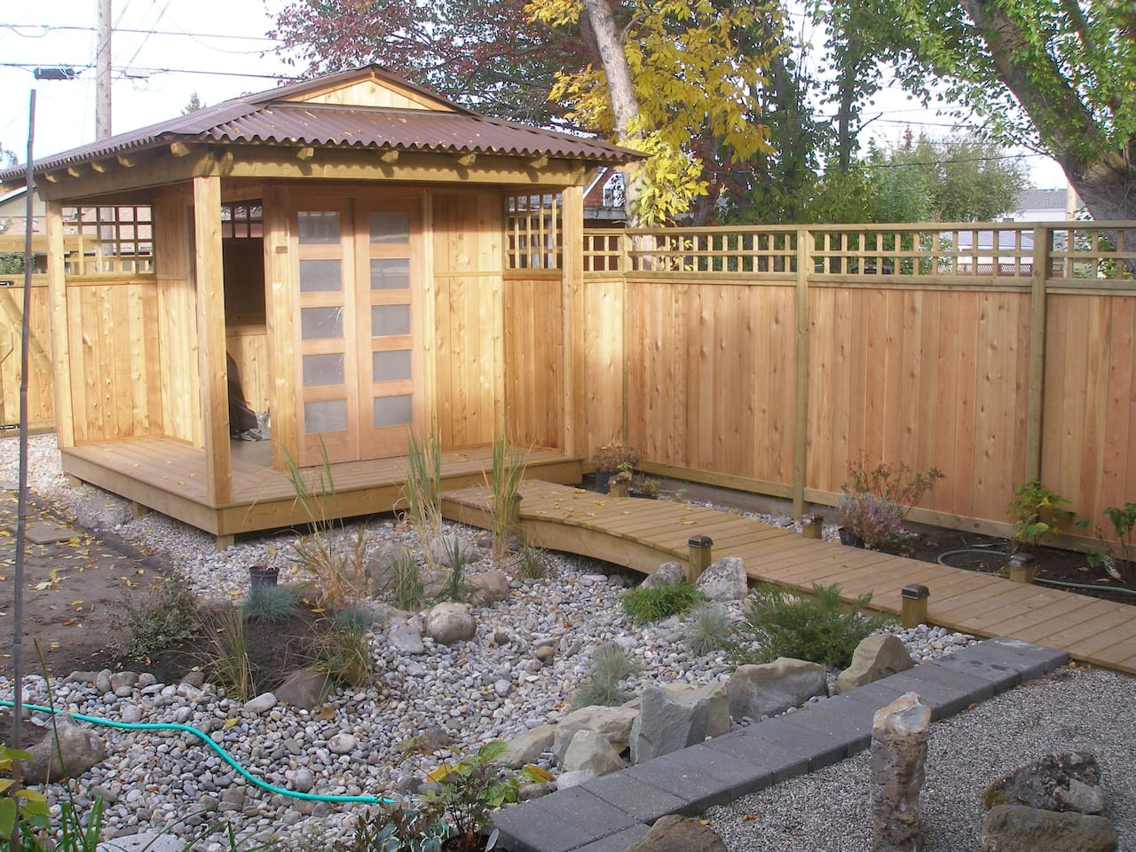 I have built a Japanese style tea house and meditation garden this past summer for guests to enjoy.