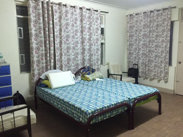 Room is very basic but the location is great