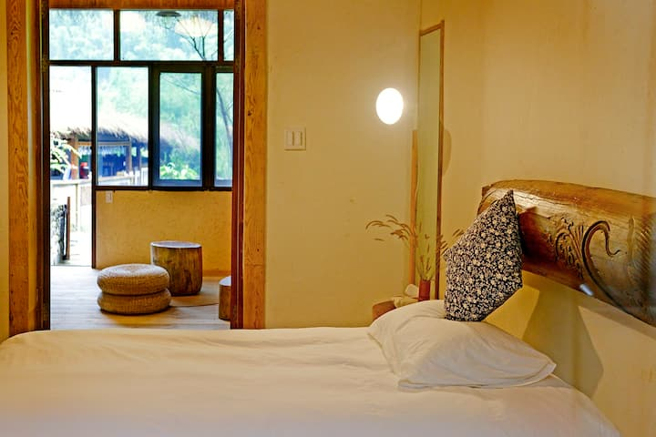 Log cabin-Tatami-double bed suite