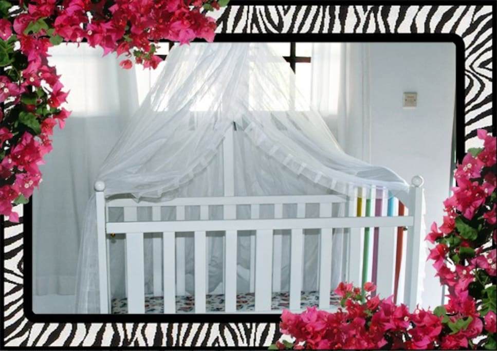 Complimentary cot for the little one.