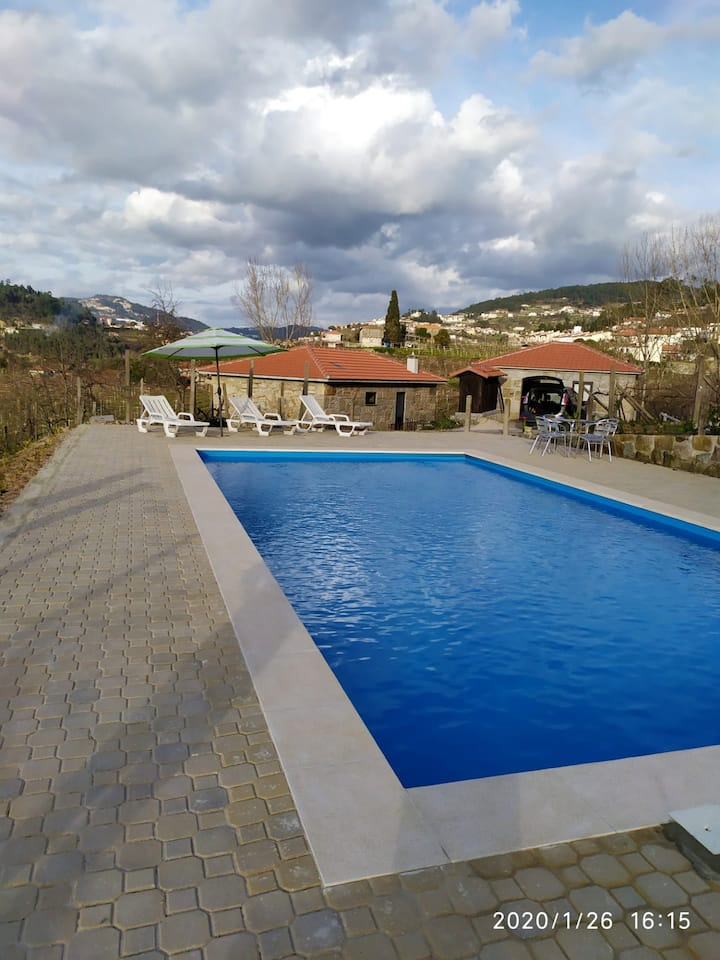 Villa with 5 bedrooms in Fornos, with wonderful mountain view, private pool, furnished terrace