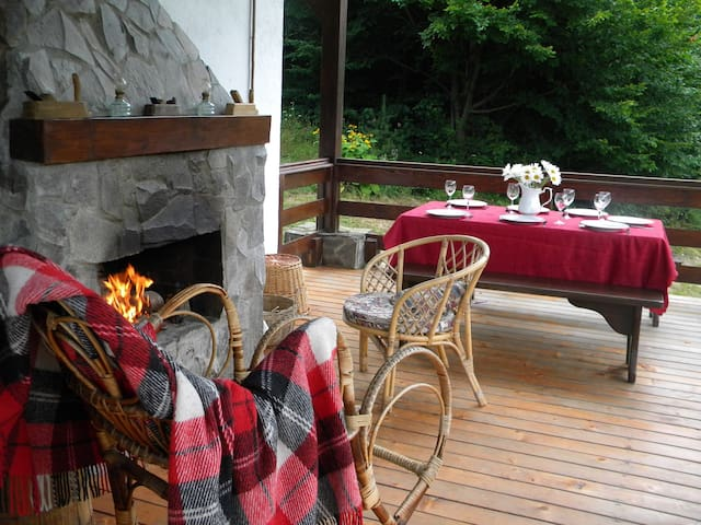 External fireplace, where you may cook your barbeque meals