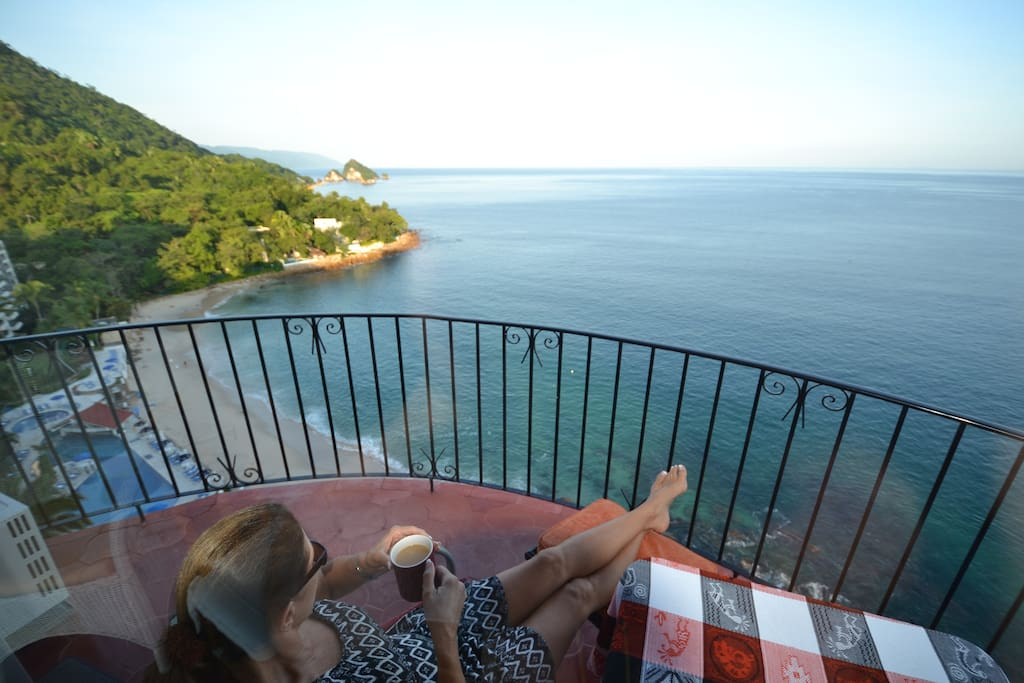 Morning Coffee on the balcony