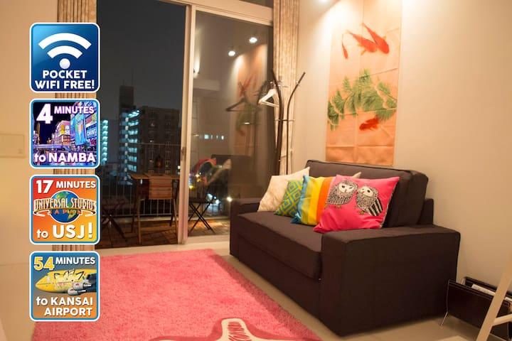 Riverside! Osaka's Beating Heart! - Naniwa-ku, Osaka - Appartamento