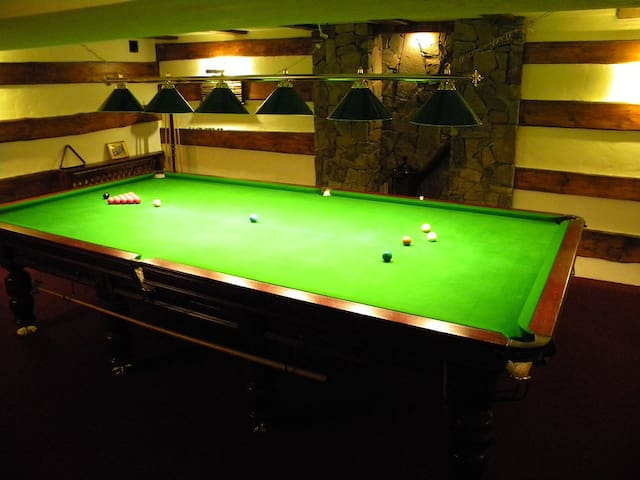 Snooker room in the ground floor - the snooker table we brought from England, where it was long-time forgotten in a garrage