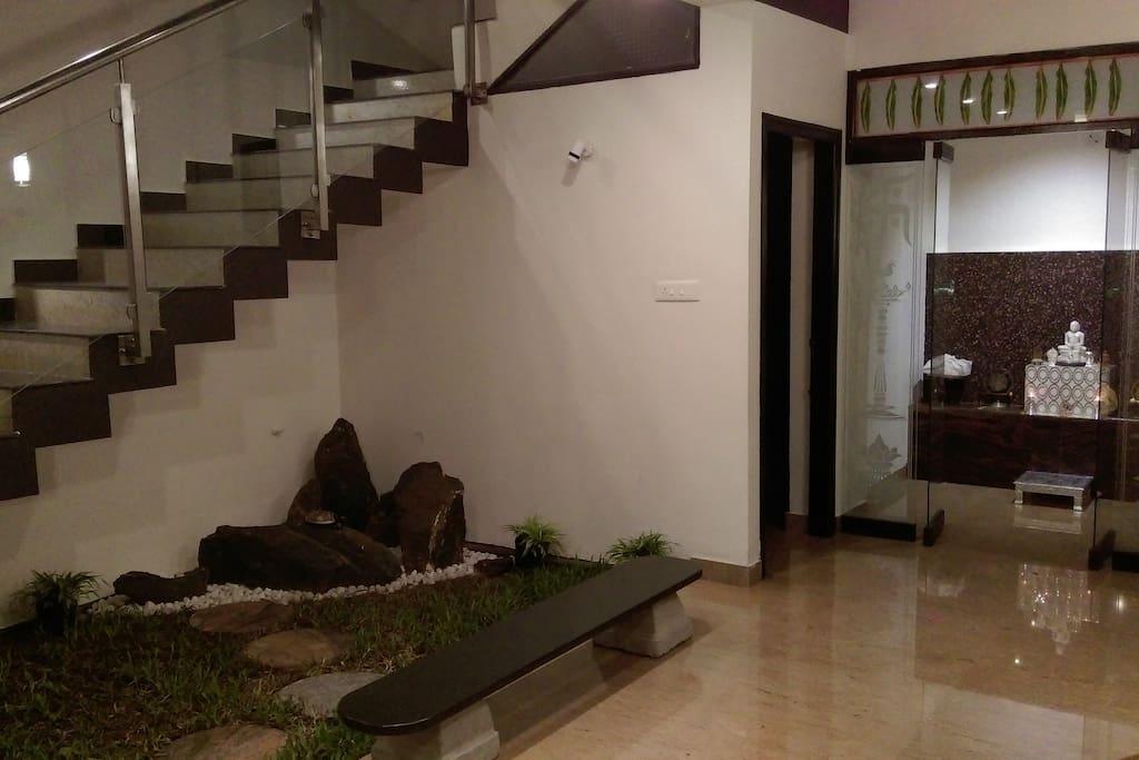 Stairs & Indoor garden...