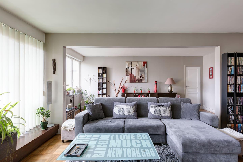 Large apartment Paris Auteuil
