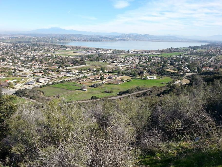 Lake Elsinore as seen from the Lookout on the Ortega Highway