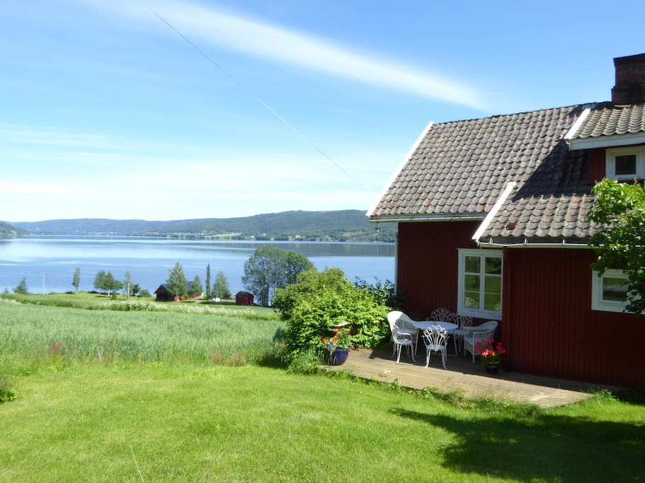 View from the garden to Randsfjorden lake