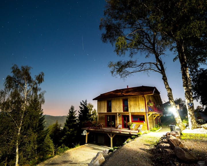 Chambre montagnarde avec SPA&Sauna&Piscine-Vosges