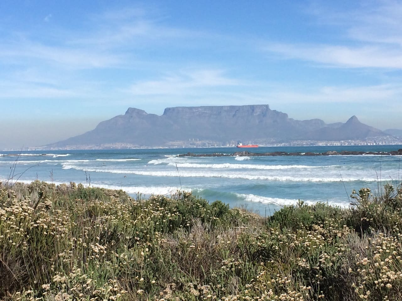 Lovely Table Mountain view from the beach