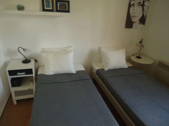 Die Betten als Einzelbetten