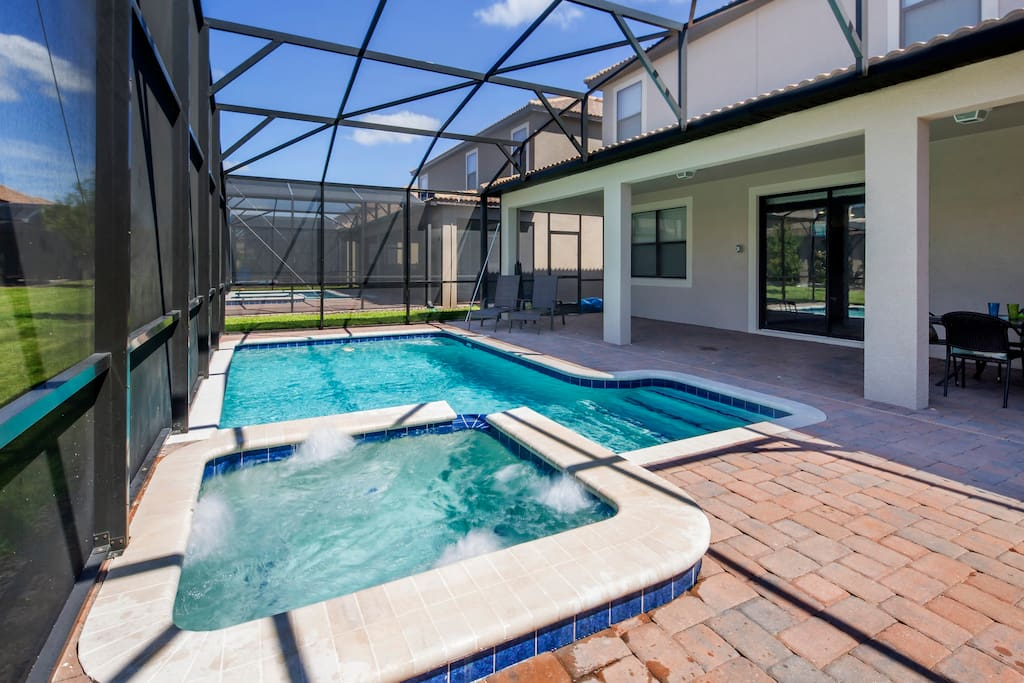 Make hundreds of happy memories with your family to take back home with you to cherish forever - of your vacation spent at this spectacular pool and sun-drenched deck with bubbling spa to the rear of the home.
