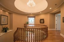 You would love getting to the top of the rotunda overlooking the family room on one side and the rotunda on the other side.