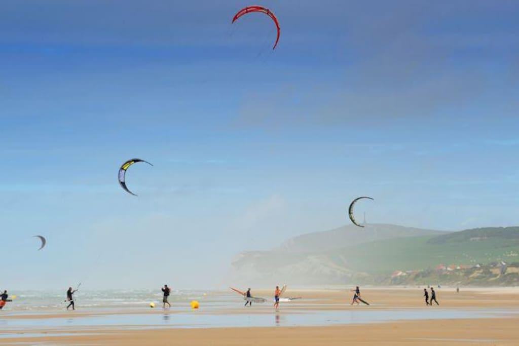 Kite Surfer de la baie de Wissant