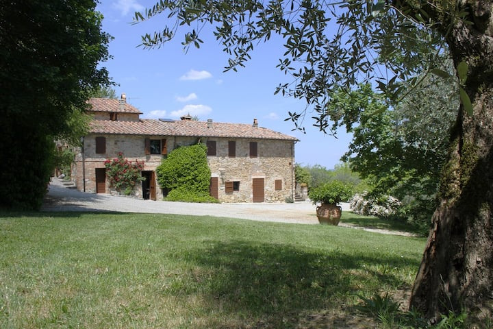 Characteristic Tuscany farmhouse