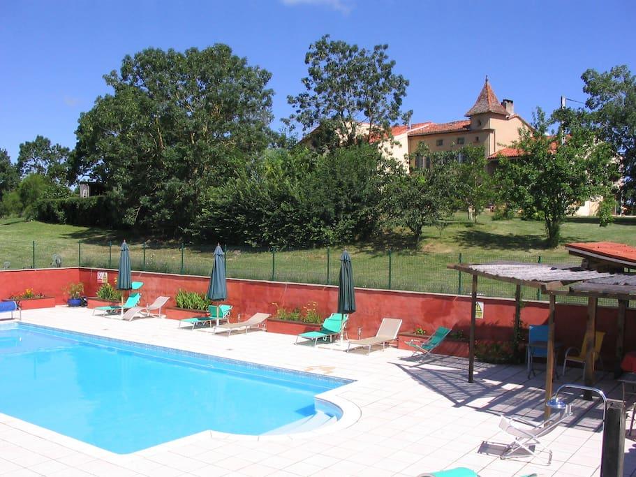The 13x6m salt water Swimming Pool