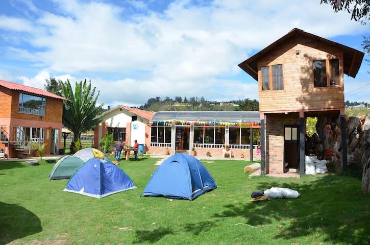 Habitacion en Casa De Campo Suesca - Suesca - Szoba reggelivel