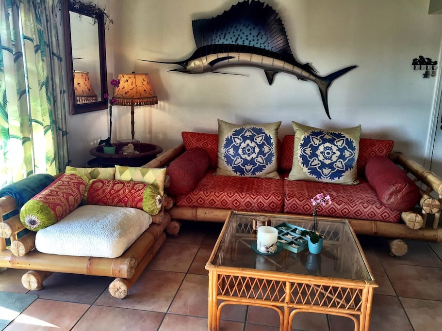 Beautiful bamboo furniture with sailfish