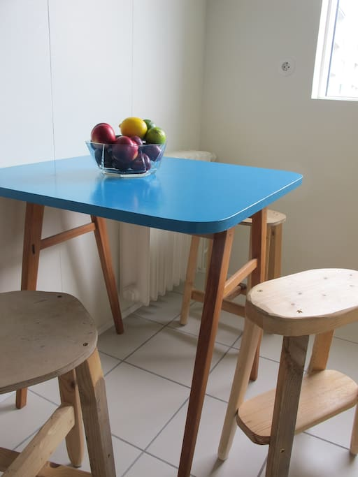 Our homemade kitchen table and chairs :)