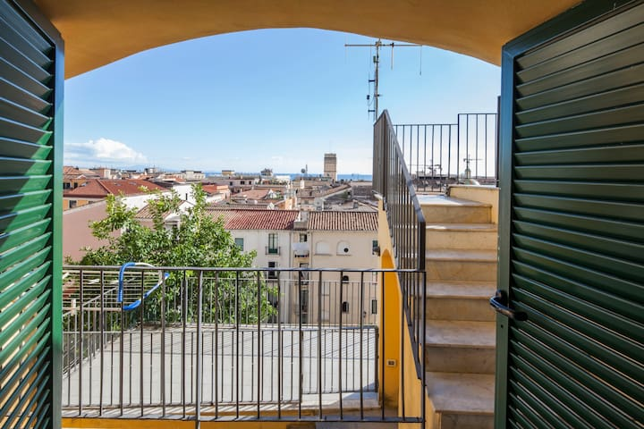 vista balcone camera letto