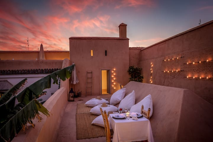Traditional Riad with real garden - Marrakech