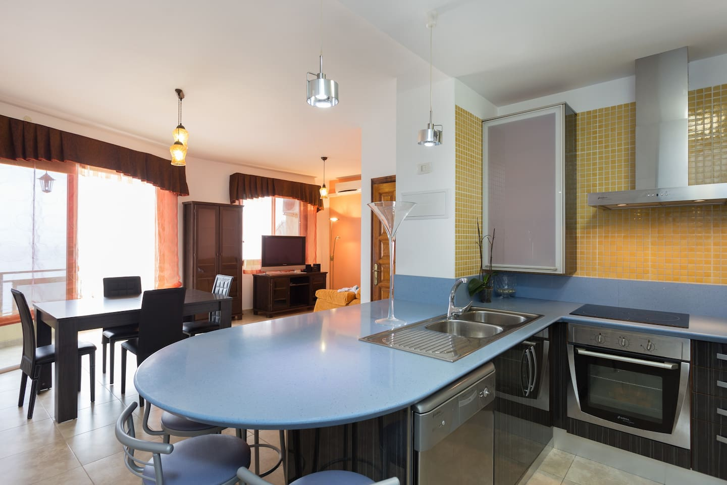 spacious living with large kitchen