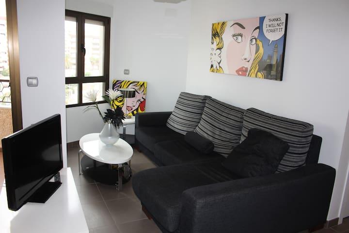 Moderno apartamento de playa