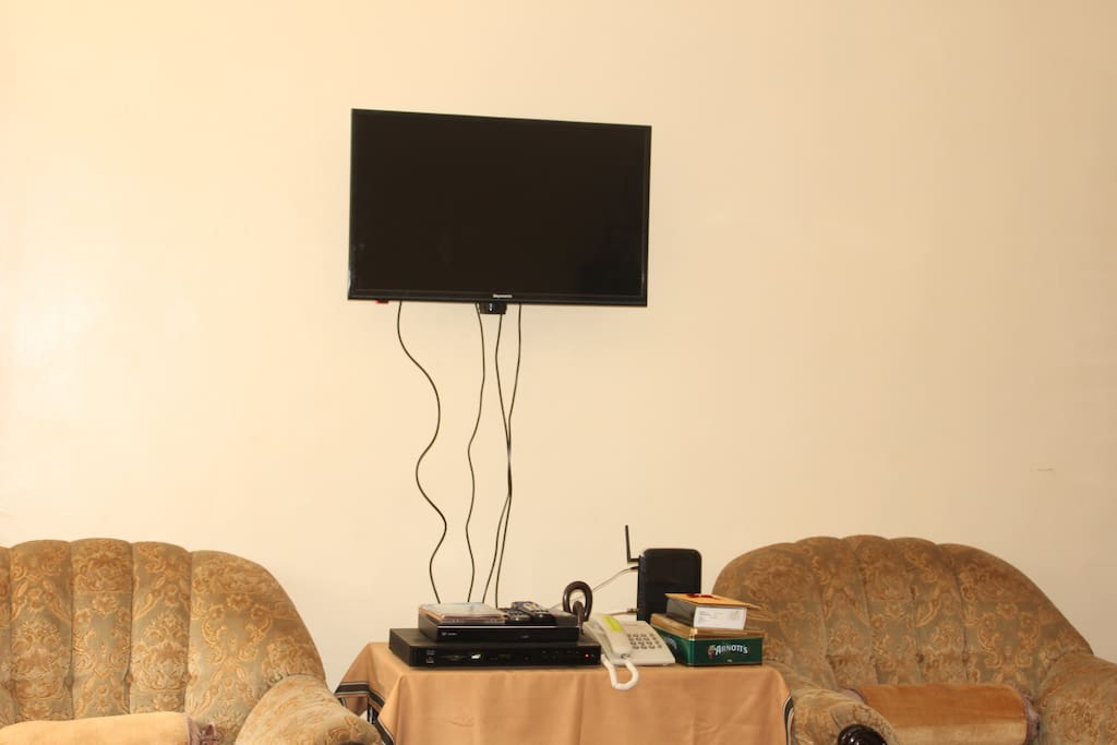 Entertainment guaranteed with Cable and DVD player available. Wi-Fi is assured too.